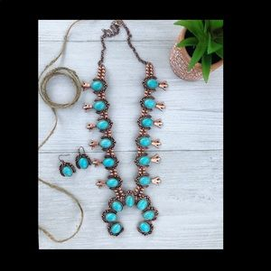 New western necklace and earrings set
